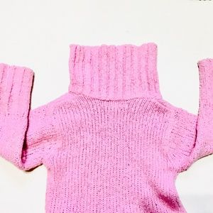 H&M Shirts & Tops - H&M Pink Knit Turtleneck Sweater